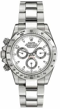 Rolex Daytona White Index Dial Oyster Bracelet Mens Watch