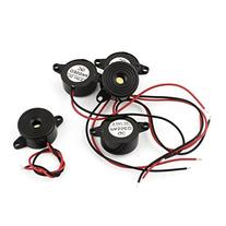 uxcell 5Pcs DC3-24V Wire Leads Industrial Audio Piezo