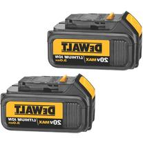 DEWALT DCB200-2 20-Volt MAX Li-Ion 3.0 Ah Battery 2-Pack