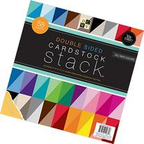 DCWV Double Sided Cardstock Stack, Textured, 58 Sheets, 12 x