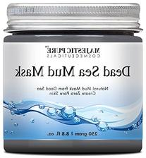 Majestic Pure Natural Dead Sea Mud Mask Facial Cleanser, 8.8