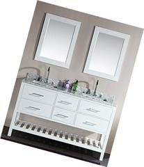Design Element DEC077C-W London 61-Inch Double Sink Vanity