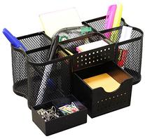 DecoBros Desk Supplies Organizer Caddy, Black