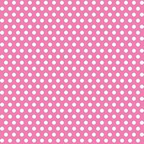 Decorative Dots Gift Wrap 30X5'-Hot Pink