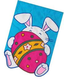 Decorative Flag Large Decorative Easter Flag Hiding Bunny