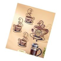 Decorative Metal Coffee Collection, Clock, Mocha, Lattee,