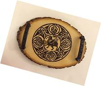 Decorative trays; Coaster trays; Medieval art; Griffins;