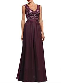 Miusol Women's Deep-neck Elengant Halter Retro Bridesmaid
