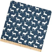 Premier Prints Deer Silhouette Premier Navy Fabric By The