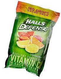 Halls Vitamin C Defense Supplement Drop Value Pack-Assorted