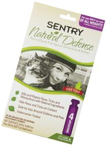 Natural Defense Flea and Tick Squeeze On For CATS 4 Pack