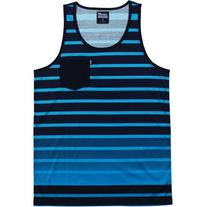 neff Men's Delineation Tank, Blue, XX-Large