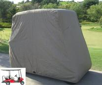 "Deluxe 4 Passenger Golf Cart Cover roof 80"" L Taupe, fits E"