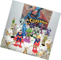 Superman Deluxe Cake Toppers Cupcake Decorations Set of 13
