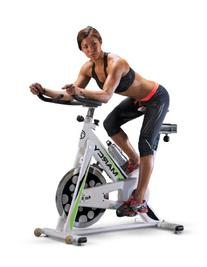 Marcy Deluxe Club Revolution Exercise Cycle, white