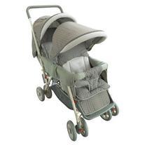 AmorosO Deluxe Double Baby Stroller, Green