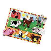 Melissa & Doug Deluxe Farm Animals Chunky Wood Puzzle - 8-