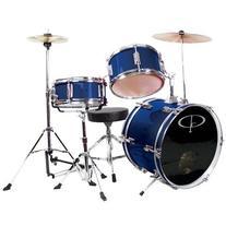 GP Percussion Deluxe GP50 3-Piece Kid's Drum Set Bundle with