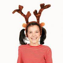 Deluxe Plush Reindeer Antlers Headband