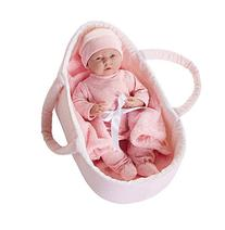 JC Toys Deluxe Realistic Baby Doll With Fabric Basket & Gift Set, 15.5