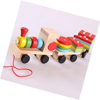 Highdas Deluxe Stacking Train Set Toddler Toy Three Section