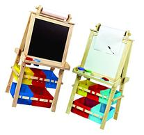 Deluxe Standing Easel - Two Sided A-Frame Paint Easel, Chalk