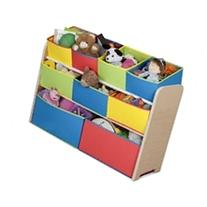 DELUXE TOY ORGANIZER WITH BINS MULTI-COLOR