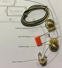 TAOT Wiring Kit - Fender Precision Bass P-Bass - Orange Drop