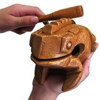"BSIRI Large 6"" Wood Frog Guiro Rasp-Musical Instrument Tone"