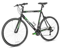 GMC Denali Flat Bar Road Bike, 700c, Black/Green, Small/48cm
