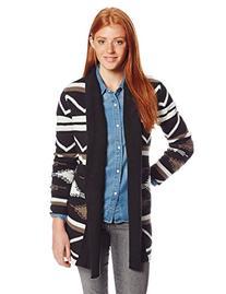 BB Dakota Women's Denny Blanket Pattern Cardigan, Black,