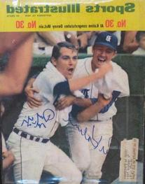 Denny McLain & Al Kaline autographed Sports Illustrated