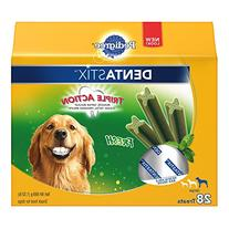 PEDIGREE DENTASTIX Large Dog Chew Treats, Fresh, 28 Treats