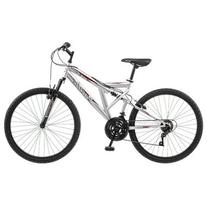 Pacific 264162PD Mens Derby Mountain Bike, Silver - 26 inch
