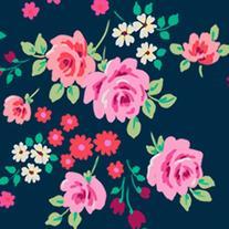 iGadgitz 'Desginer Collection' Pink Rose Floral Pattern PU '