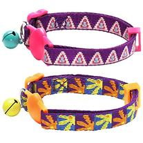 Blueberry Pet Pack of 1 Cat Collar, Pyramid Shape Designer
