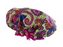 Mademoiselle Designer Shower Cap with Drawsting Pouch, Play