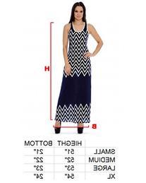 Enimay Women's Designer Solid Chevron Summer Long Dress