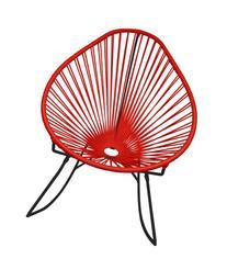 Innit Designs Acapulco Rocker, Red Weave on Black Frame