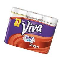 Viva Designs Paper Towels, 63 Sheets, 3 Rolls