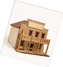 DESKTOP Wooden Model Kit Western Salong by Young Modeler