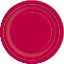 Dessert Plates, 6 3/4-Inch, Ruby Red, 20 Count