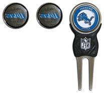 NFL Detroit Lions Signature Divot Tool and 2 Extra Markers