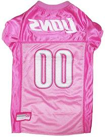 Pets First NFL Detroit Lions Jersey, X-Small, Pink