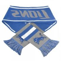 NFL Detroit Lions Wordmark Scarf, Blue, One Size