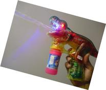 DH Educational Products - Dinosaur Bubble Gun with Flashing