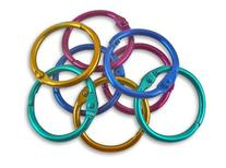 The Classics 1-Inch Diameter 50 Count Book Rings in Assorted