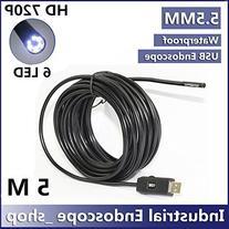 GCA 5.5mm Diameter USB Waterproof 6 Led Endoscope Borescope