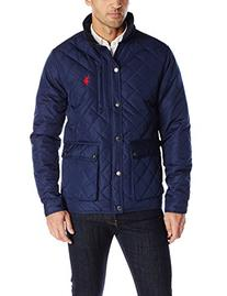 U.S. Polo Assn. Men's Diamond Quilted Jacket, Classic Navy,