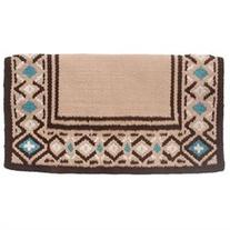 "Tough-1 Diamond Wool Saddle Blanket 36"" x 34"" Tan/Brown/"